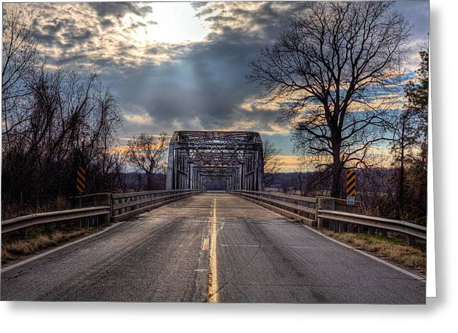 Arkansas Greeting Cards - Lonely Highways Greeting Card by JC Findley
