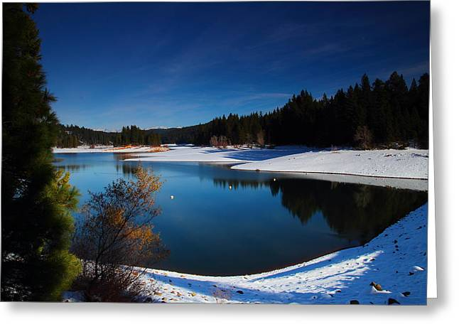 Jenkinsons Greeting Cards - Lonely Lake Greeting Card by Garrett Nyland