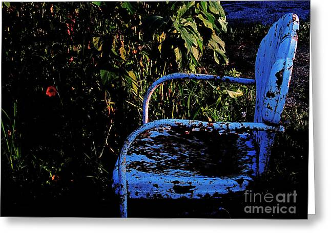 Lawn Chair Greeting Cards - Lonely Lawn Chair Greeting Card by Tina M Wenger