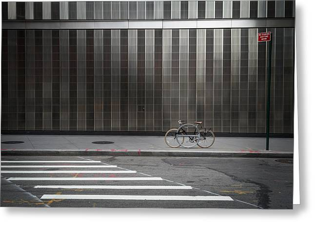 Fixie Greeting Cards - lonely Linus Greeting Card by Dmitriy Nikelberg