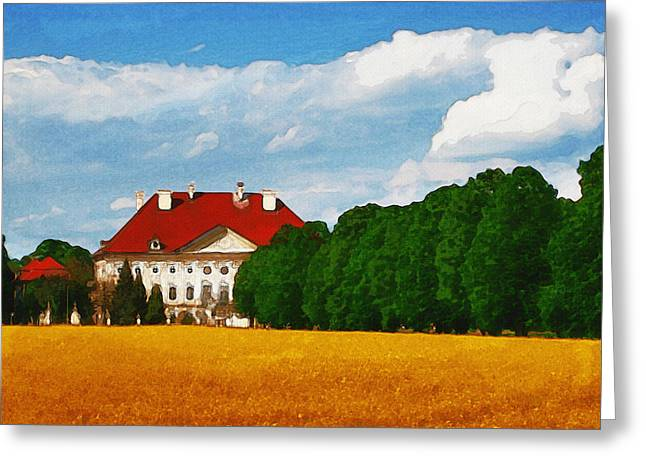 Manor Greeting Cards - Lonely Mansion Greeting Card by Ayse Deniz