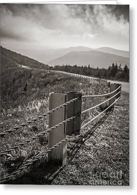 Stormy Weather Greeting Cards - Lonely Mountain Road Greeting Card by Edward Fielding