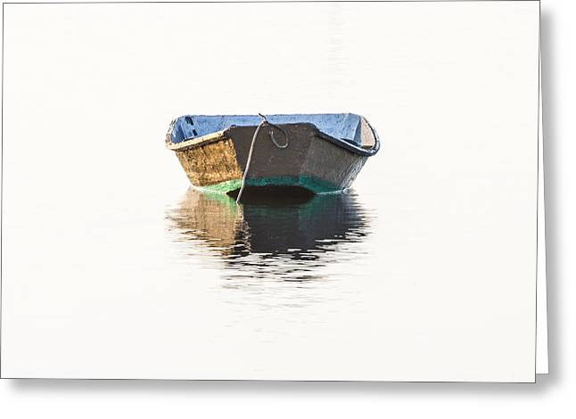 Row Boat Greeting Cards - Lonely Row Boat Greeting Card by Bill Swindaman