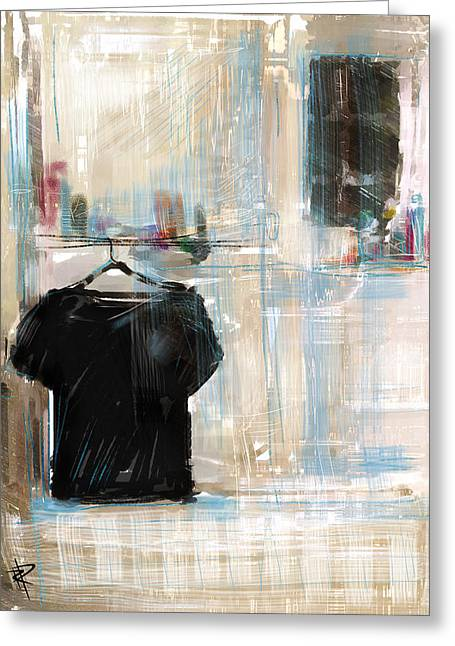 Short Sleeves Greeting Cards - Lonely Shirt Greeting Card by Russell Pierce