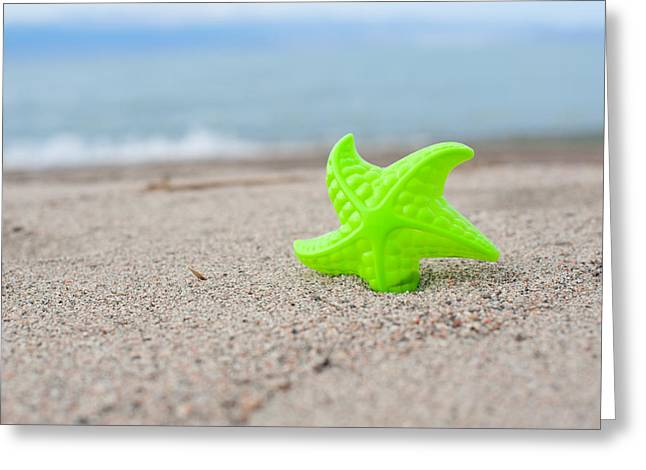 Sofia Walker Greeting Cards - Lonely Starfish  Greeting Card by Sofia Walker