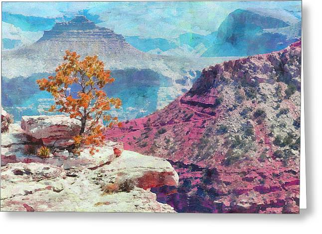 Outlook Greeting Cards - Lonely Three At Grand Canyon Greeting Card by Viktor Savchenko