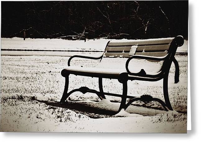Deep Feelings Greeting Cards - Lonely Winter Greeting Card by Dan Sproul