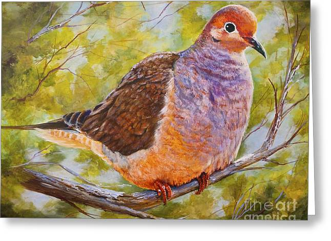 Birds Greeting Cards - Lonesome Dove Greeting Card by AnnaJo Vahle