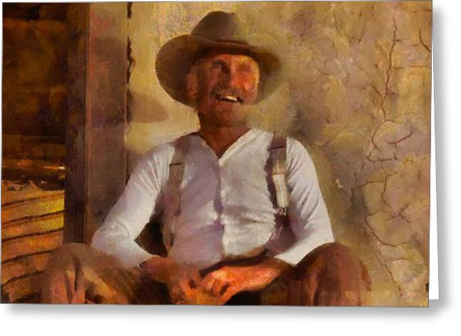 Old Tv Paintings Greeting Cards - Lonesome Dove Greeting Card by Dan Sproul