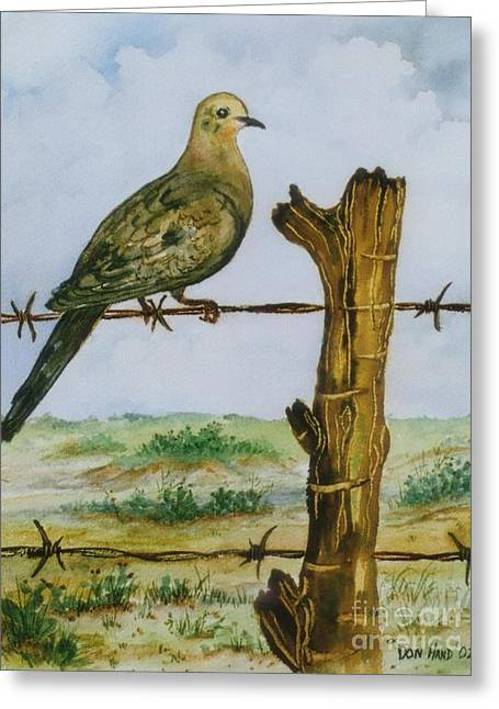Barbed Wire Fences Mixed Media Greeting Cards - Lonesome Dove Greeting Card by Don Hand