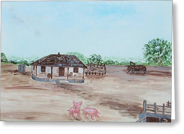 Lonesome Dove Greeting Cards - Lonesome Dove Texas Ranger Headquarters Greeting Card by Jan Townsend