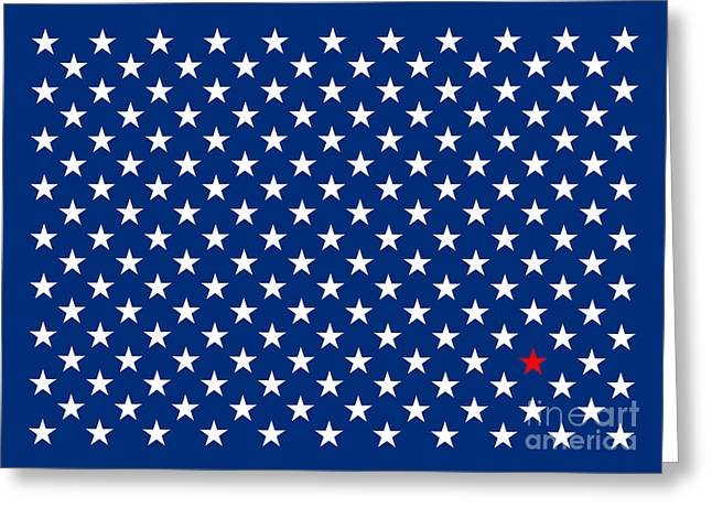 Alienating Greeting Cards - Lonestar Greeting Card by Bruce Stanfield