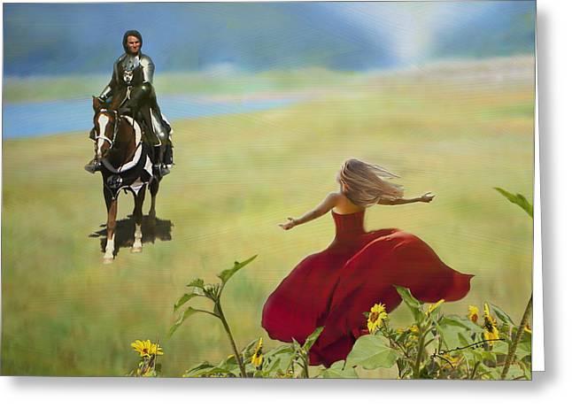 Running Princess Greeting Cards - Long Awaited Return Greeting Card by Kume Bryant