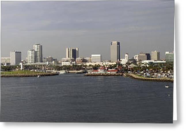 Aquarium Fish Greeting Cards - Long Beach CA Panorama 02 Greeting Card by Thomas Woolworth