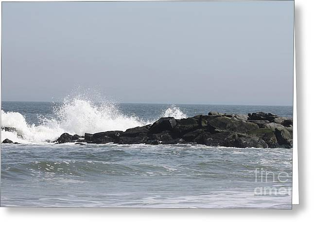 Canon Rebel Greeting Cards - Long Beach Jetty Greeting Card by John Telfer