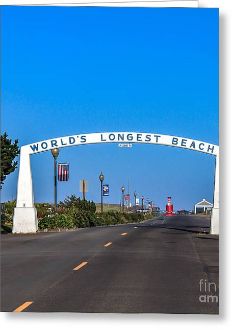 Haybale Greeting Cards - Long Beach Greeting Card by Robert Bales