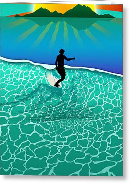 Long Boards Greeting Cards - Long Board Greeting Card by Ryan Burton