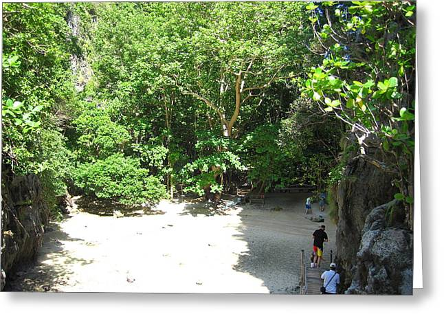 Phi Greeting Cards - Long Boat Tour - Phi Phi Island - 0113110 Greeting Card by DC Photographer
