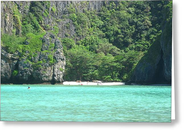 Surf Greeting Cards - Long Boat Tour - Phi Phi Island - 0113120 Greeting Card by DC Photographer
