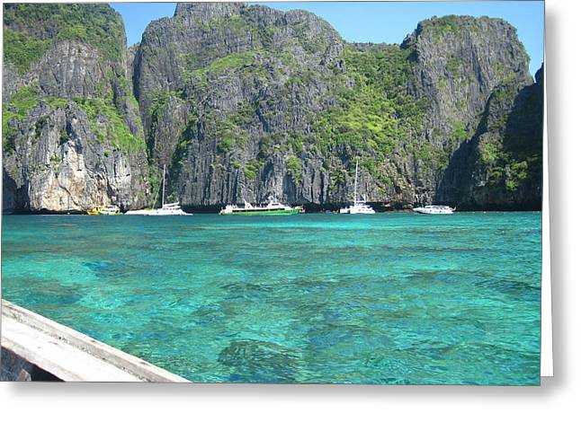 Surf Greeting Cards - Long Boat Tour - Phi Phi Island - 0113121 Greeting Card by DC Photographer