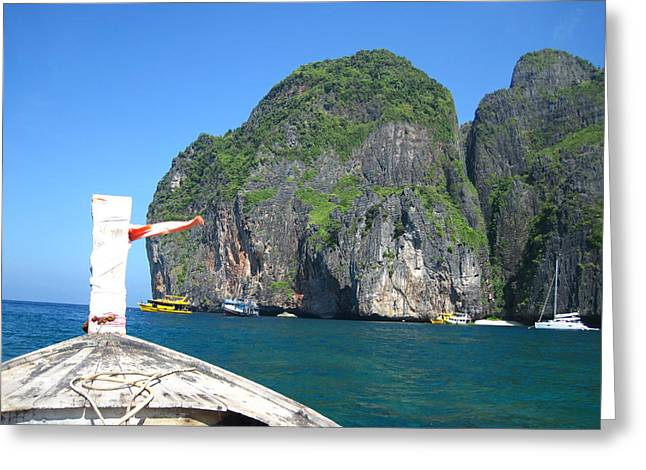 Thailand Greeting Cards - Long Boat Tour - Phi Phi Island - 0113122 Greeting Card by DC Photographer