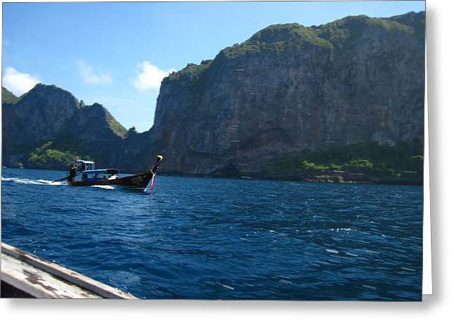 Tour Greeting Cards - Long Boat Tour - Phi Phi Island - 0113129 Greeting Card by DC Photographer