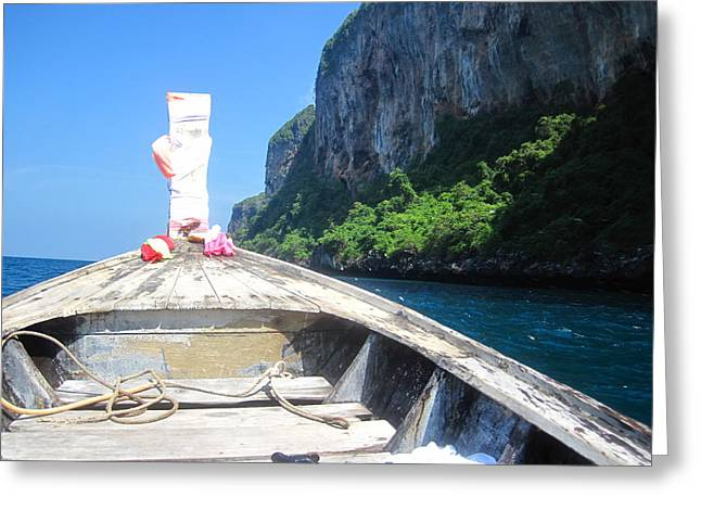 Boat Greeting Cards - Long Boat Tour - Phi Phi Island - 0113157 Greeting Card by DC Photographer