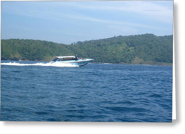 Phi Greeting Cards - Long Boat Tour - Phi Phi Island - 0113165 Greeting Card by DC Photographer