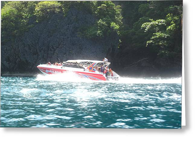 Boat Greeting Cards - Long Boat Tour - Phi Phi Island - 0113166 Greeting Card by DC Photographer