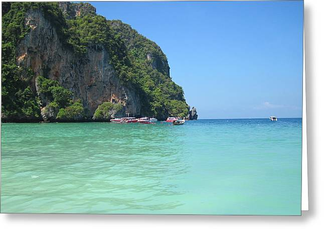 Islands Greeting Cards - Long Boat Tour - Phi Phi Island - 0113171 Greeting Card by DC Photographer