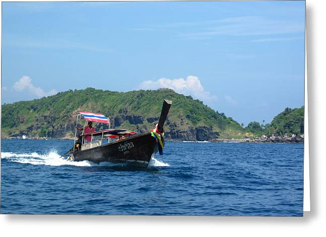 Surf Greeting Cards - Long Boat Tour - Phi Phi Island - 0113195 Greeting Card by DC Photographer