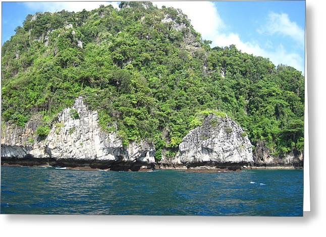 Tour Greeting Cards - Long Boat Tour - Phi Phi Island - 011320 Greeting Card by DC Photographer