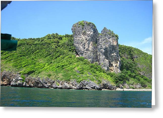 Boat Greeting Cards - Long Boat Tour - Phi Phi Island - 0113205 Greeting Card by DC Photographer