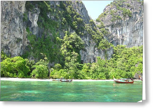 Boat Greeting Cards - Long Boat Tour - Phi Phi Island - 0113210 Greeting Card by DC Photographer