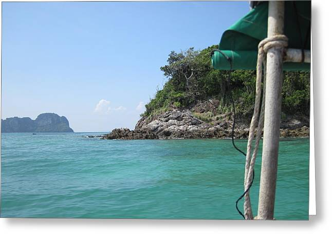 Surf Greeting Cards - Long Boat Tour - Phi Phi Island - 0113236 Greeting Card by DC Photographer