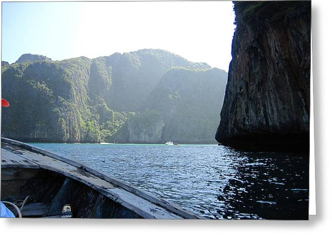 Surf Greeting Cards - Long Boat Tour - Phi Phi Island - 011394 Greeting Card by DC Photographer