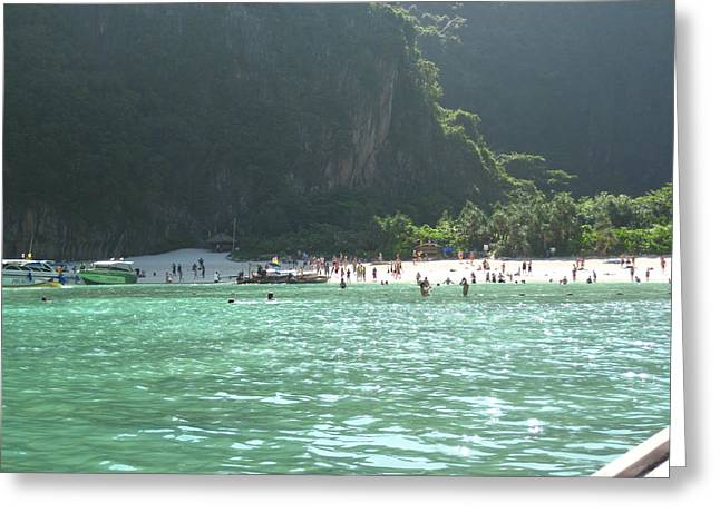 Surf Greeting Cards - Long Boat Tour - Phi Phi Island - 011398 Greeting Card by DC Photographer
