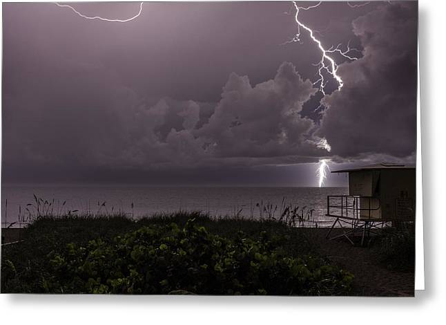Shack Greeting Cards - Long Bolt Greeting Card by Christopher Perez