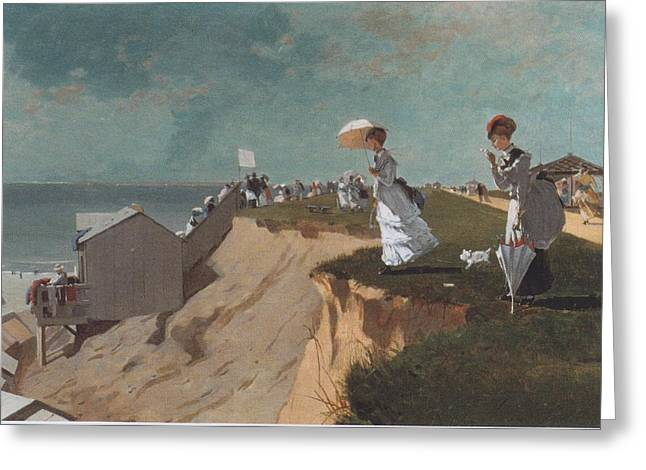 Winslow Homer Digital Art Greeting Cards - Long Branch New Jersey Greeting Card by Winslow Homer