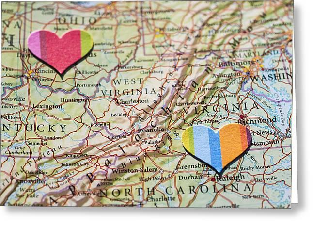 Long Distance Love Greeting Card by Jan Bickerton