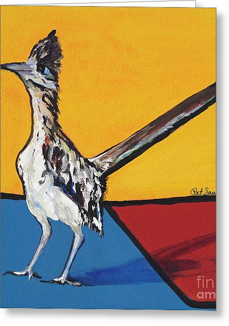 Road Runner Greeting Cards - Long Distance Runner Greeting Card by Pat Saunders-White