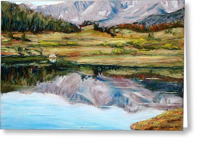 Beauty Pastels Greeting Cards - Long Draw Reservoir Greeting Card by Mary Benke