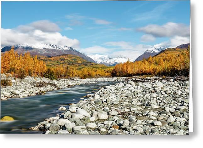 Long Exposure Of Granite Creek Greeting Card by Ray Bulson