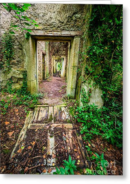 Dilapidated Digital Art Greeting Cards - Long Forgotten Greeting Card by Adrian Evans