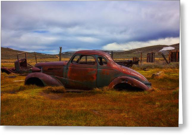 Rusted Cars Greeting Cards - Long Forgotten Greeting Card by Garry Gay