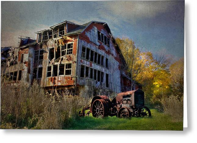 Barn Digital Art Greeting Cards - Long Forgotten Greeting Card by Lori Deiter