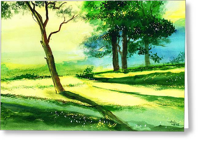 Amazing Drawings Greeting Cards - Long Horizon Greeting Card by Anil Nene