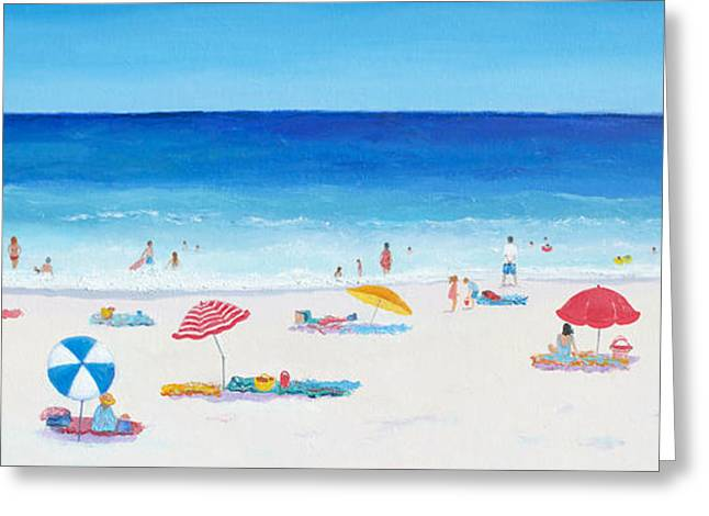Umbrellas Greeting Cards - Long Hot Summer Greeting Card by Jan Matson