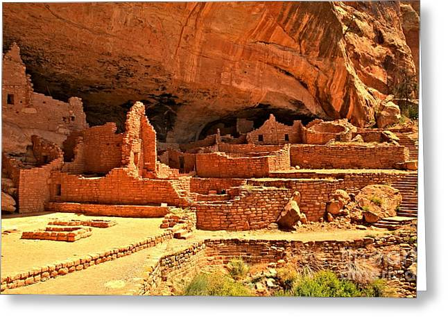 Ancient Ruins Greeting Cards - Long House Community Greeting Card by Adam Jewell