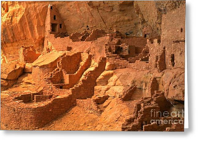 Ancient Ruins Greeting Cards - Long House Ruins Greeting Card by Adam Jewell